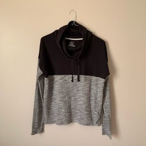 Black and Grey So Turtle Neck Sweatshirt